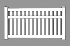 Ascot PVC Picket Fence