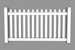 Colonial PVC Picket Fence