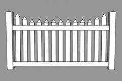 Homestead PVC Picket Fence