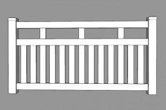 Monterey PVC Picket Fence