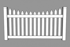 Sierra PVC Picket Fence